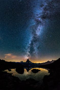 Milky Way over the Matterhorn, Switzerland |... - The World Around Us