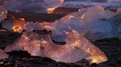 jokulsarlon iceland | Golden Ice, Jokulsarlon beach, Iceland