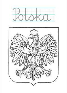 polska-godlo-kolorowanka-z-podpisem