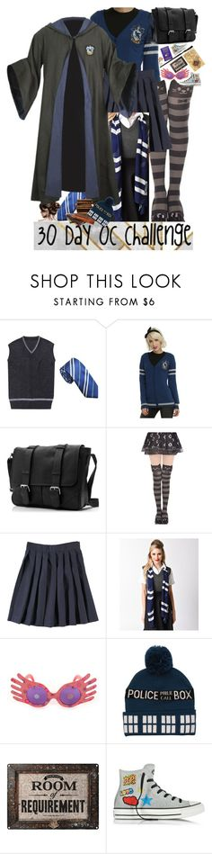 """30 Day OC challenge: Day thirteen"" by wibbly-wobbly-timey-wimey-dork on Polyvore featuring French Toast, Elope, Converse and Vintage"