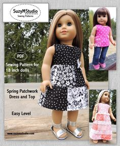Spring Patchwork Dress and Top SuzyMStudio   Sewing Pattern