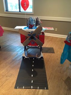 "My son Jase had his own airplane for his FIRST birthday. ""How time flies"""