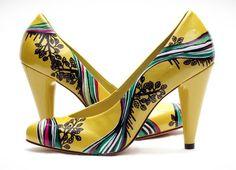 Cocopunkz custom yellow heels