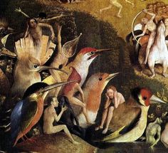 Hieronymus Bosch, Garden of Earthly Delights, center panel detail