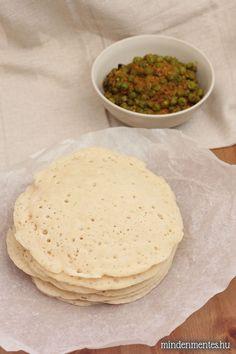 Nóri's ingenious cooking: Appam - Indian coconut pancakes/flatbread (gluten-free, egg-free, vegan recipe) omit corn flour sub in coconut flour Gluten Free Recipes, Vegan Recipes, Cooking Recipes, Vegan Snacks, Healthy Snacks, Savoury Dishes, Vegan Dishes, Gf Bread Recipe, Vegan Bread