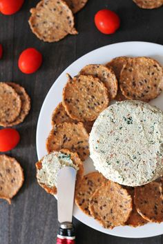 This garlic herb vegan almond cheese spread is bursting with flavour and can be used in so many ways. It's great on crackers, sandwiches, as a veggie dip, and more! #vegancheese #veganalmondcheese #almondcheese #dairyfreecheese via @delighfuladv