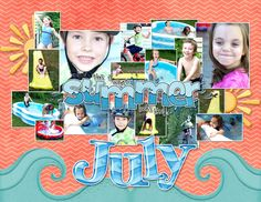 I did calendar's this year instead of Photo Books for my Christmas Gifts! Here's July 2013.  credit: A Day At The Beach by Kathy Winters Pool Party Alpha by Just So Scrappy Wordart by Chelle's Creations