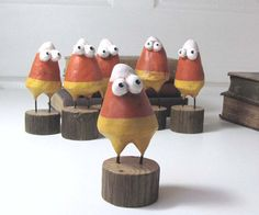 Candy corn! They are like candy corn minions! I love them!