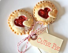 Pie Pops with Heart Cutouts