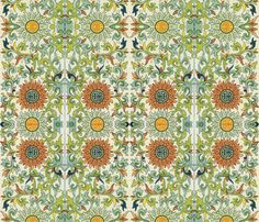 Jade Chinese Floral  fabric by peacoquettedesigns on Spoonflower - custom fabric
