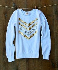 Hey, I found this really awesome Etsy listing at https://www.etsy.com/listing/200451758/sequin-chevronarrow-design-sweatshirt