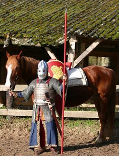 Reconstruction of the equipment of a 12th century Siculo-Norman knight.