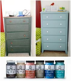 Upcycle Dresser using FolkArt® Home Decor™ Chalk from @Jo-Ann Fabric and Craft Stores | DIY Dresser by @Our Thrifty Ideas