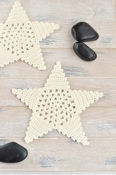 Crochet Christmas Stars ❥ 4U hilariafina  http://www.pinterest.com/hilariafina/