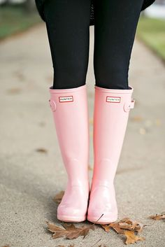 Pink Hunter Boots| Chronicles of Frivolity