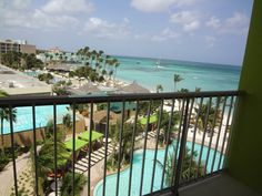 View from a room at the Holiday Inn Aruba to the ocean