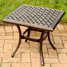 Heritage Outdoor End Table by Agio at Darvin Furniture