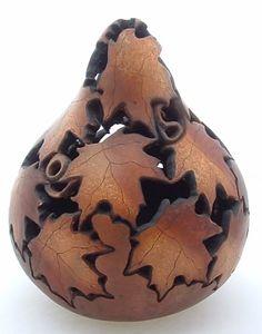 Fine art gourd by Mary Beth Hogue