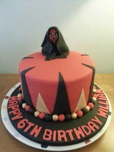Scary darth maul cake