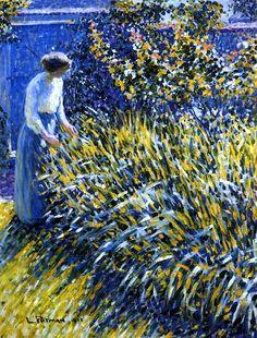 Lady in a Garden Louis Ritman - 1918