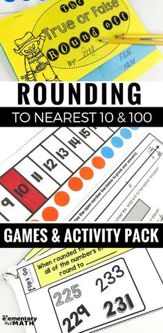 Try these hands-on rounding games and activities to help your kids round to the nearest 10 and Interactive number lines, maching games, and more. Math Tutor, Teaching Math, Teaching Resources, Teaching Ideas, Rounding Activities, Math Games, Math Round, Math Rotations, Math Centers