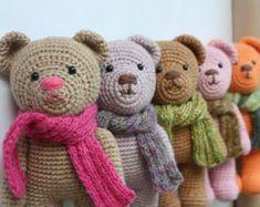 PATTERN: Little Teddy Bear Crochet Pattern by TinyAmigurumi