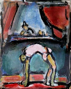 Georges Rouault. 1871-1958 Entertainment 1943. 15 oils on the theme of the circus. Cateau Cambrésis