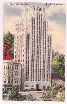 Downtown Hot Springs, vintage, Medical Arts Building
