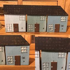 Little row of cottages made from found materials  #upcycled #reclaimed #decor