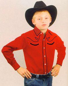 black and red boys western shirt | Buy Three Shirts - SAVE 7%