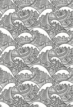 Waves ~ Colouring Books for Adults - In The Playroom