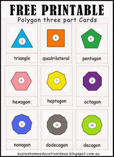 Polygons - Printables and Activity Ideas