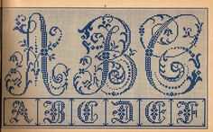 Antique alphabet.... being antique, i'm guessing there's no pattern to purchase on this one... but they are so lovely, I had to pin it...