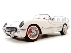 1953 CHEVROLET CORVETTE POLO WHITE 1/18 DIECAST MODEL CAR BY AUTOART 71081