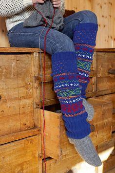 Strickmuster: Beinstulpen stricken - für warme Waden - BRIGITTE