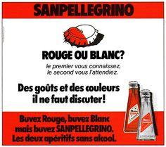 Publicité San Pellegrino 1977 - apéritif bitter -