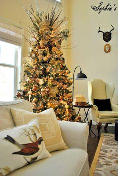 new spirit with rustic christmas decorating ideas living room with rustic christmas tree by sophia - Christmas Decor Living Room Pinterest