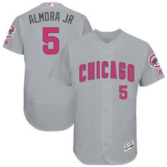 7920726de Chicago Cubs Albert Almora Majestic 2017 Mother's Day Pink Men's Flex Base  jersey