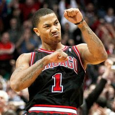 This right here is Derrick Rose!! :) best basketball player ever!