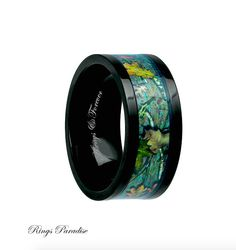 10mm Titanium Ring Mens Titanium Wedding Band by RingsParadise