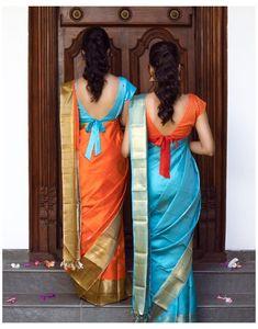 Blouse Back Neck Designs, New Saree Blouse Designs, Blouse Designs Catalogue, Fancy Blouse Designs, Bridal Blouse Designs, Blouse Styles, Sari Bluse, Traditional Blouse Designs, Long Dress Design