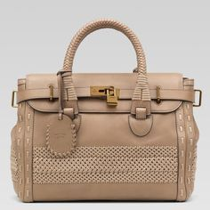 Gucci Handmade Large Top Handle Bag 263944 in Taupe