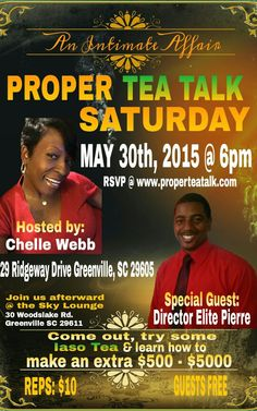 I'm coming to Greenville, SC!