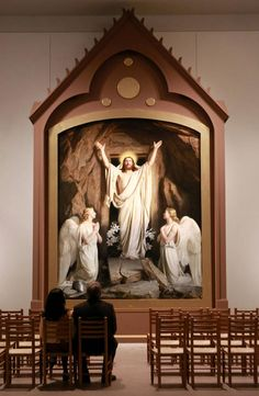 People Look At The Resurrection By Carl Bloch A New Exhibition Sacred