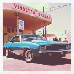 A classic car on Woodward Avenue