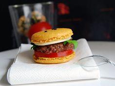 Mc caron : macaron salé façon hamburger !