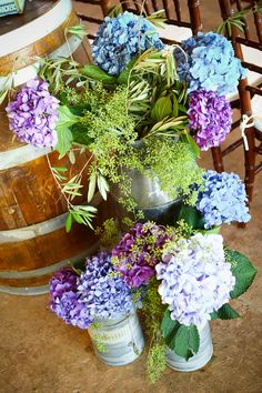 Love hydrangeas! Photography by hydeparkphoto.com, Floral Design by merveilleevents.com