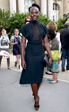 Lupita Nyong'o from Stars at Paris Haute Couture Fashion Week Fall 2015 | E! Online