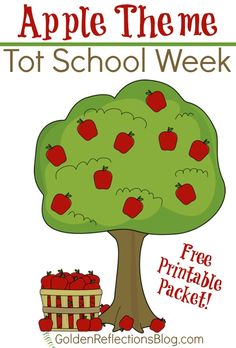 Apple themed tot school week with free printables included. Apple themed tot school week with free printables included. Preschool Apple Theme, Apple Activities, Preschool Learning, Learning Activities, Preschool Activities, Toddler Learning, Preschool Apples, Preschool Plans, Preschool Centers