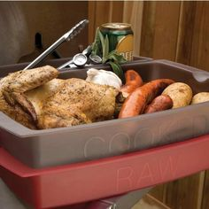 Charcoal Companion Versatile Grill Station Serving Tray